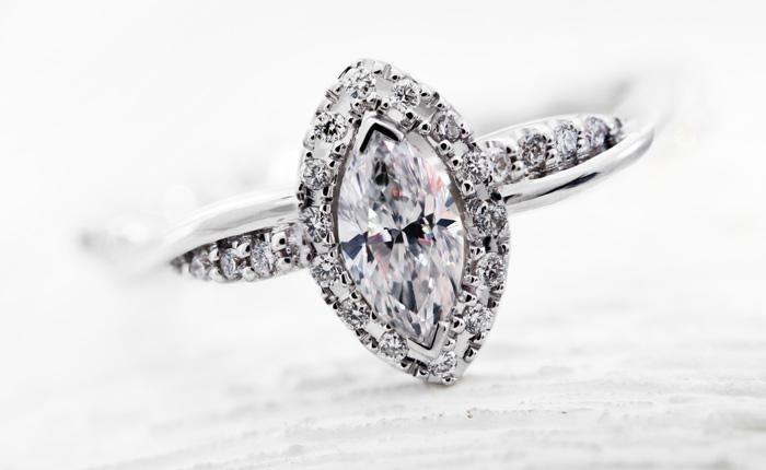 VS Diamant-Goldring - es muss nicht immer der Brillant-Schliff sein