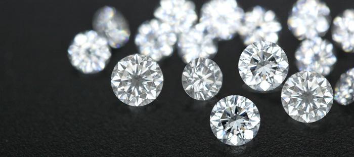 Makellose weiße Diamanten