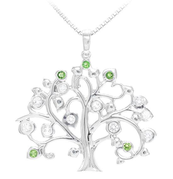 Halskette mit Lebensbaum-Anhänger