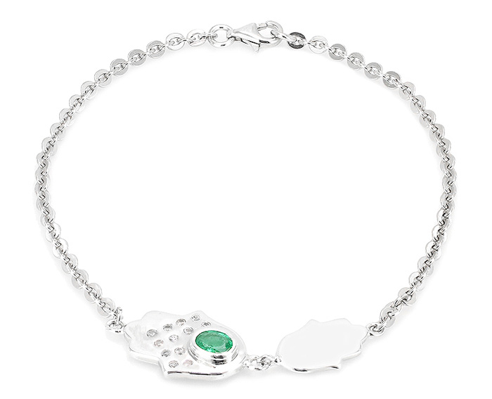 Silber-Armband mit Hamsa