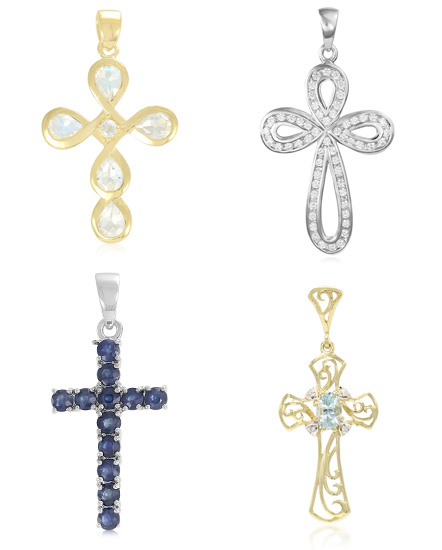 verschiedene Kreuzanhänger