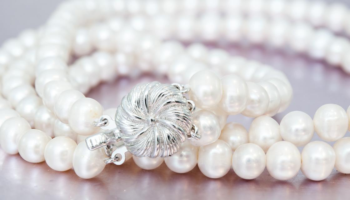Perlenkette mit verziertem Verschluss