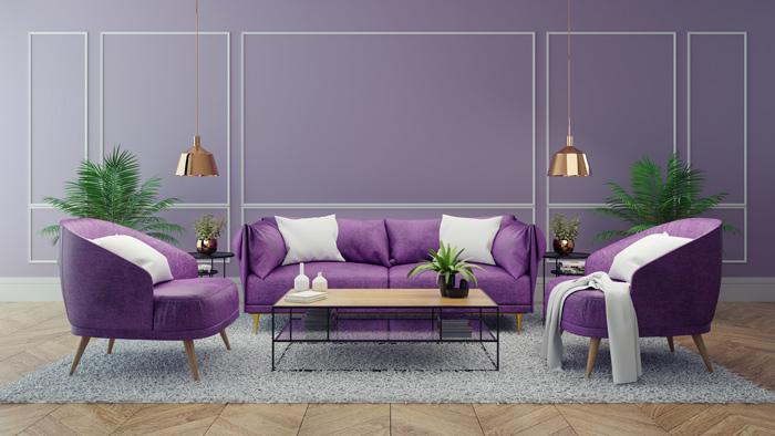 Ultraviolette Wohnwelt