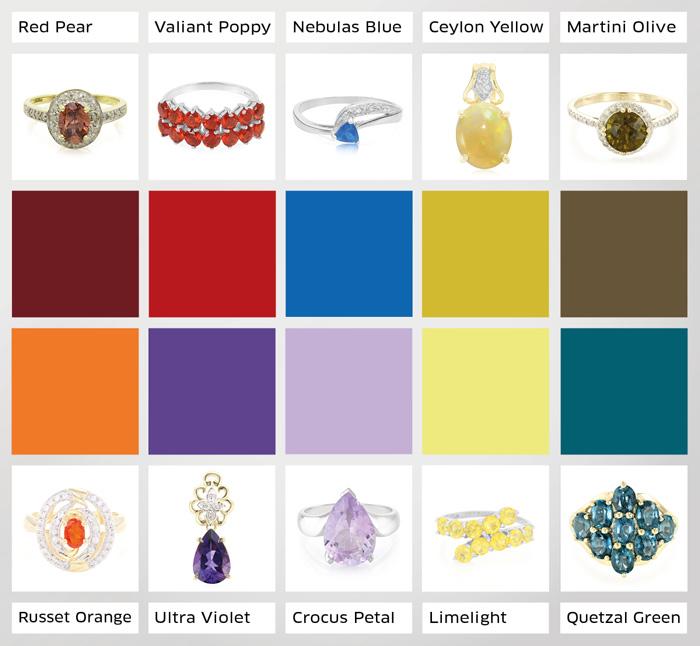 Die 10 Pantone Trendfarben für den Herbst