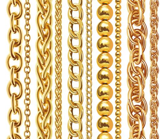 trendige Gliederketten und -Armbänder