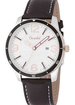 Cronenthal Armbanduhr mit Tabletten bzw. Pillen Fach, Leder braun