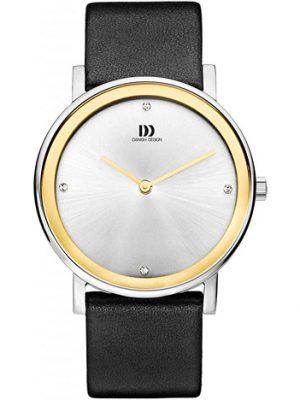 Danish Design Armbanduhr Damen Edelstahl Lederband