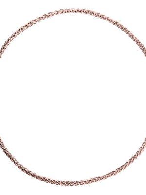 Ernstes Design Zopfkette, 4 mm, Rotgold beschichtet, 50 cm