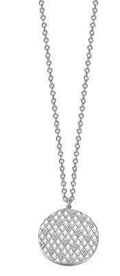 Esprit Kette 925 Silber Lattice glam Zirkonia