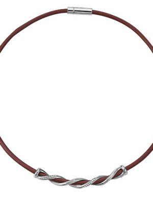 Esprit Kette 925 Silber swiveled red Zirkonia