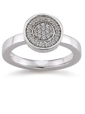 Laura Coon Ring 925 Silber Zirkonia, 52 / 16,6