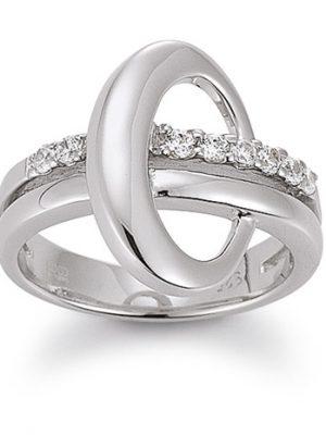 Laura Coon Ring 925 Silber Zirkonia, 55 / 17,5