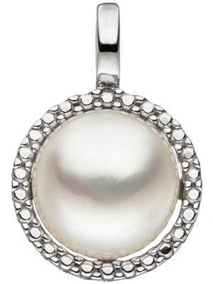 SIGO Anhänger 333 Gold Weißgold 1 Süßwasser Perle Perlenanhänger Weißgoldanhänger
