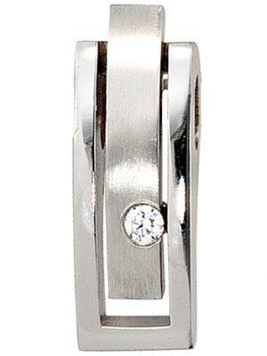 SIGO Anhänger 950 Platin matt 1 Diamant Brillant 0,10ct. Platinanhänger