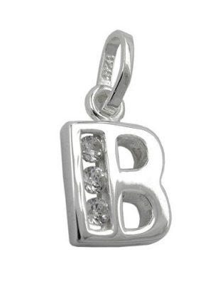 SIGO Anhänger, Buchstabe B mit Zirkonia Silber 925