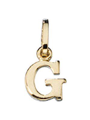 SIGO Anhänger Buchstabe G 333 Gold Gelbgold Buchstabenanhänger