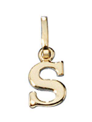 SIGO Anhänger Buchstabe S 333 Gold Gelbgold Buchstabenanhänger