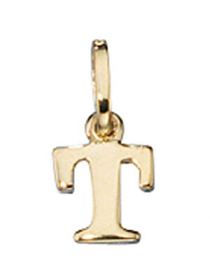 SIGO Anhänger Buchstabe T 333 Gold Gelbgold Buchstabenanhänger