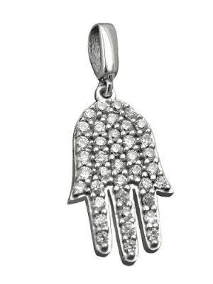 SIGO Anhänger, Hand mit Zirkonia, Silber 925