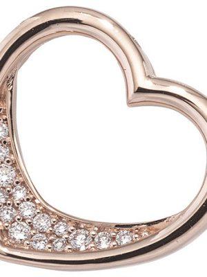 SIGO Anhänger Herz 585 Gold Rotgold 15 Diamanten Brillanten 0,08ct. Herzanhänger