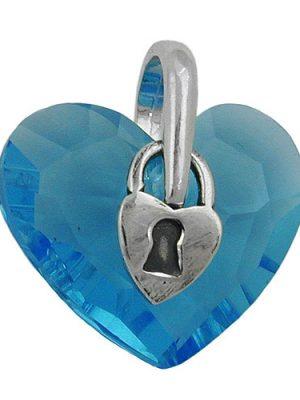 SIGO Anhänger, Herz mit Schloß, Silber 925
