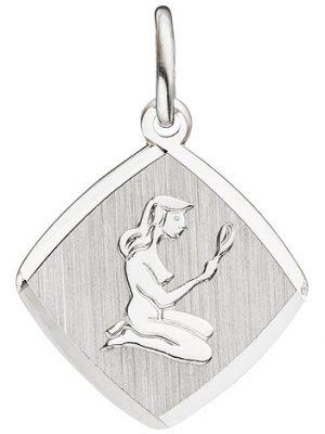 SIGO Anhänger Sternzeichen Jungfrau 925 Sterling Silber matt Sternzeichenanhänger