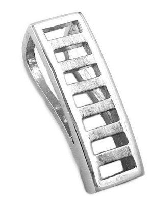 SIGO Anhänger, Viereck rhodiniert Silber 925