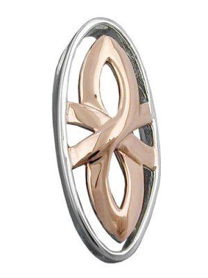 SIGO Anhänger bicolor, rhodiniert, Silber 925