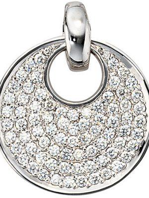 SIGO Anhänger rund 585 Gold Weißgold 78 Diamanten Brillanten 1,45ct. Weißgoldanhänger