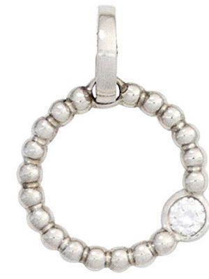 SIGO Anhänger rund 950 Platin 1 Diamant Brillant 0,05 ct. Platinanhänger