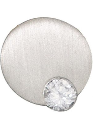 SIGO Anhänger rund 950 Platin matt 1 Diamant Brillant 0,16ct. Platinanhänger