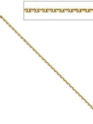 SIGO Ankerkette 333 Gelbgold 1,9 mm 50 cm Gold Kette Halskette Goldkette Federring
