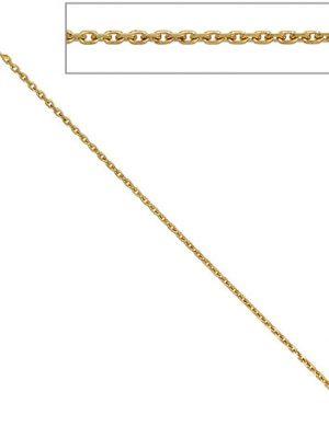 SIGO Ankerkette 333 Gelbgold diamantiert 1,6 mm 50 cm Gold Kette Halskette Goldkette