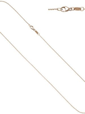 SIGO Ankerkette rund 585 Gold Rotgold 1,0 mm 40 cm Kette Halskette Rotgoldkette