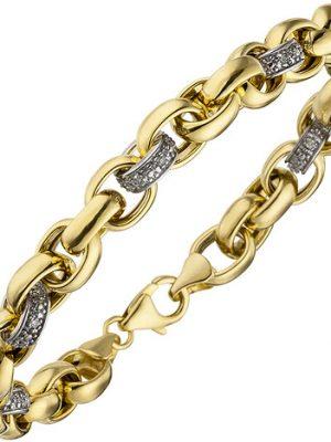 SIGO Armband 375 Gold Gelbgold 36 Diamanten Brillanten 20 cm Goldarmband