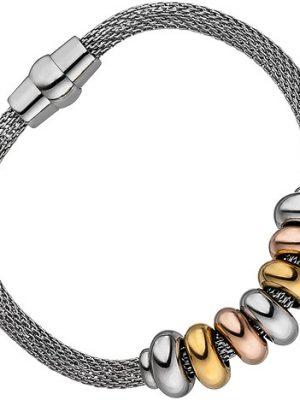 SIGO Armband Edelstahl tricolor beschichtet 18 cm mit Magnetverschluss