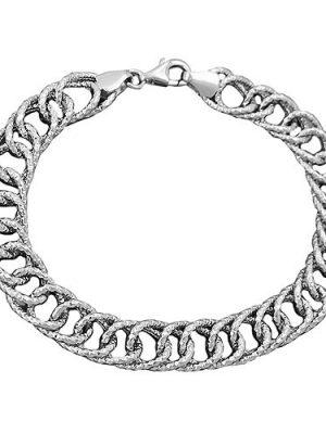SIGO Armband Fantasie, rhodiniert, Silber 925