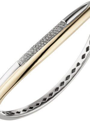 SIGO Armreif Armband 585 Gold Gelbgold Weißgold bicolor 55 Diamanten Brillanten