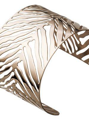SIGO Armspange / offener Armreif Edelstahl rotgold farben beschichtet Armband breit