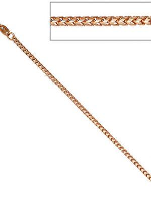 SIGO Bingokette 585 Rotgold 1,5 mm 50 cm Gold Kette Halskette Rotgoldkette Karabiner
