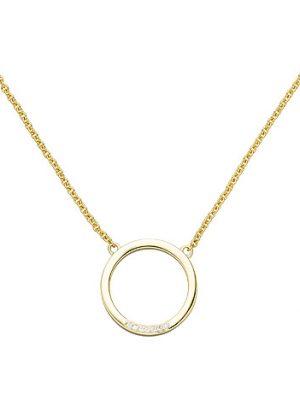 SIGO Collier Halskette 585 Gold Gelbgold 7 Diamanten Brillanten 44 cm Kette