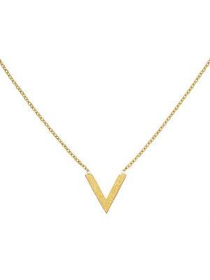 SIGO Collier Halskette Edelstahl goldfarben beschichtet 45 cm Kette
