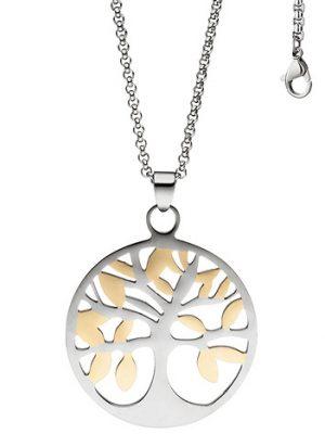 SIGO Collier Kette mit Anhänger Lebensbaum