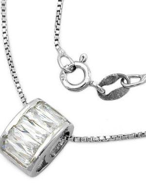 SIGO Collier, rhodiniert Silber 925