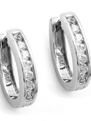 SIGO Creolen, Zirkonia, rhodiniert Silber 925