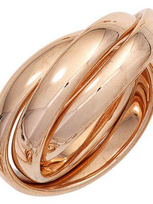 SIGO Damen Ring 3-reihig verschlungen 585 Gold Rotgold Rotgoldring