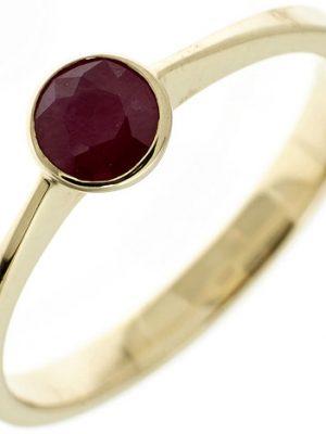 SIGO Damen Ring 333 Gold Gelbgold 1 Rubin rot Goldring