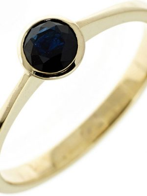 SIGO Damen Ring 333 Gold Gelbgold 1 Safir blau Goldring