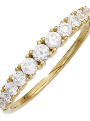 SIGO Damen Ring 333 Gold Gelbgold 11 Zirkonia Goldring