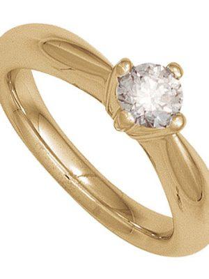 SIGO Damen Ring 585 Gold Gelbgold 1 Diamant Brillant 0,25ct. Diamantring Goldring